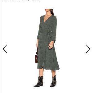 GANNI  Checked Wrap Dress